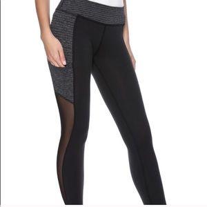 BEYOND YOGA Mesh Full Length Legging Black Gray M